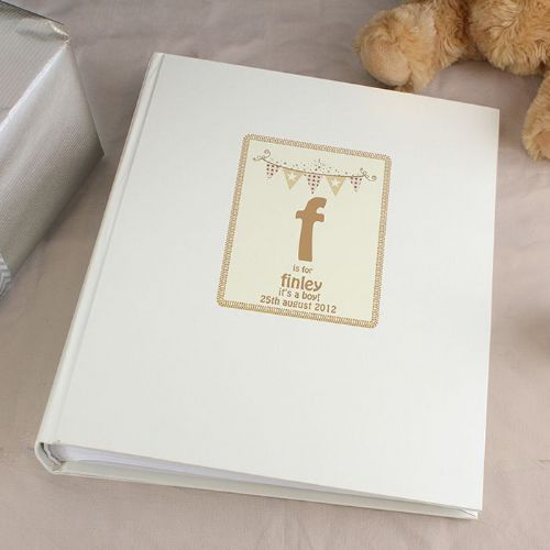 Personalised Cute Bunting Traditional Album